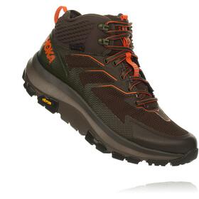 Hoka One One Sky Toa Running Shoes Men black olive/orange